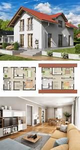 Haus Bauen Ideen Grundriss : modernes alpenstil haus grundriss mit satteldach ~ Orissabook.com Haus und Dekorationen