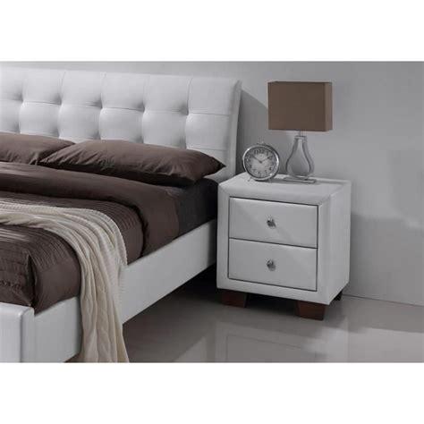 tete de lit 140 lit simili blanc avec t 234 te de lit samara 140 x 190 achat