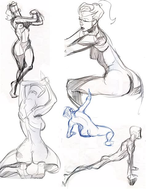 travis page  minute life drawing poses