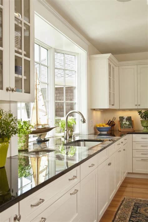 kitchen white cabinets  brushed  satin nickel
