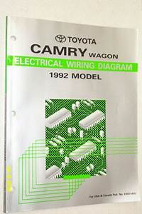 1992 Toyota Camry Wagon Electrical Wiring Diagram Manual