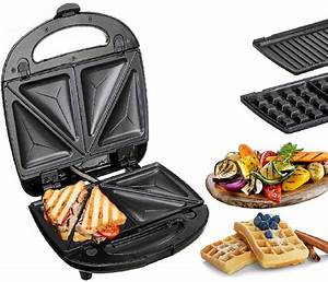 Waffeleisen Und Sandwichmaker : 3in1 sandwichmaker elektrogrill sandwichtoaster ~ Watch28wear.com Haus und Dekorationen