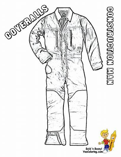Coloring Construction Pages Boys Coveralls Overalls Tough