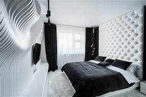 40 beautiful black white bedroom designs With black and white pictures for bedroom