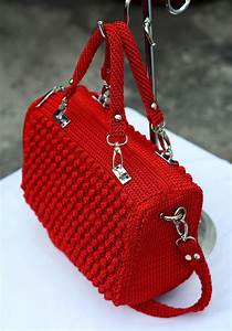 Ravelry  Red Bobble Stitch Hand Bag By Indri Safitri