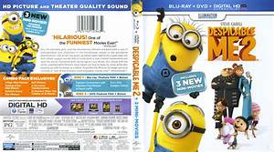 Despicable Me 2 blu-ray cover & labels (2013) R1