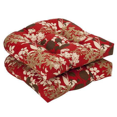 brown floral wicker seat cushions set of 2