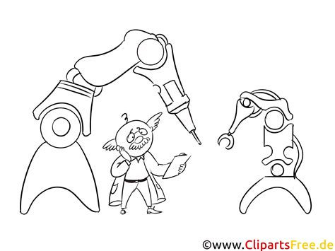roboter  produktion bild illustration clipart schwarz