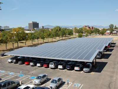 Solar Panel Carport by Solar Carport Project Completes One Of Colorado S Largest