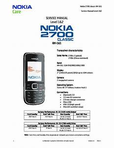 Nokia 2700c 2700c2 Rm561 1 2 Service Manual Download