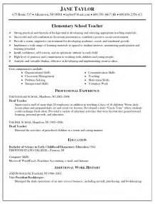 resume exles for high teachers resume sles high teaching resume teacher resume cover letter elementary