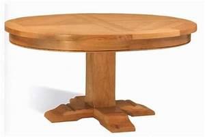 Table Ronde En Chene : table ronde pied central monastere vazard ~ Teatrodelosmanantiales.com Idées de Décoration