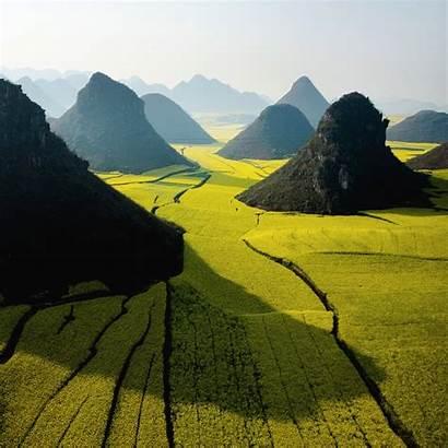 China Yunnan Nature Farmland Hills Wallpapers Mountains