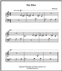 Fur Elise Easy Piano Sheet Music Free