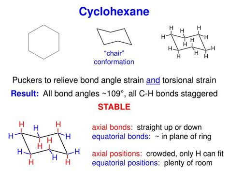 most stable chair conformation axial or equatorial ppt cycloalkanes powerpoint presentation id 3145709