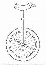 Unicycle Draw Drawing Step Tutorials Drawingtutorials101 sketch template