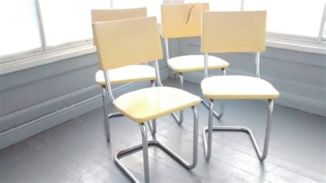 sale 4 dinette chairs retro 50s metal vinyl chrome