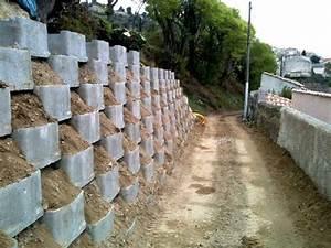 Mur De Soutenement En Gabion : mur en caisson reboul chantier d un mur de sout nement ~ Melissatoandfro.com Idées de Décoration