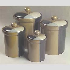 Sango Gold Dust Black 4piece Canister Set 5414546  Ebay