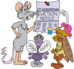 sir acme pest control sends eviction notice