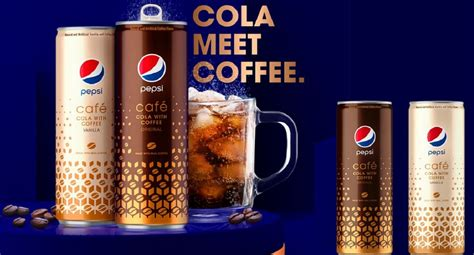 pepsi cafe  coffee cola drink   debuted