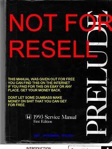 Prelude Service Manual 92