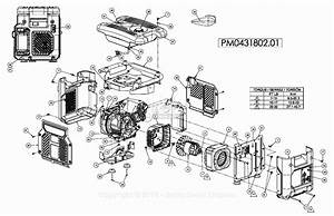 Powermate Formerly Coleman Pm0431802 01 Parts Diagram For
