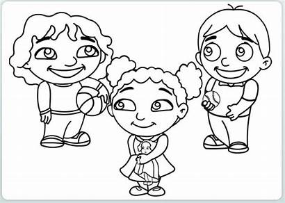 Coloring Friends Pages Children Playing Loud Sheets