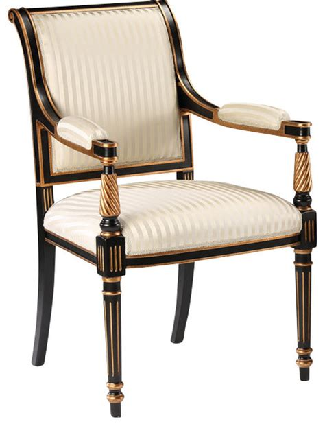 regency style armchair traditional dining chairs by