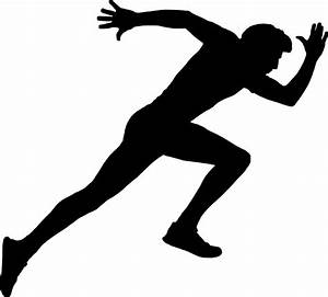 """""""Running Man Silhouette"""" Stickers by PrintPress   Redbubble"""