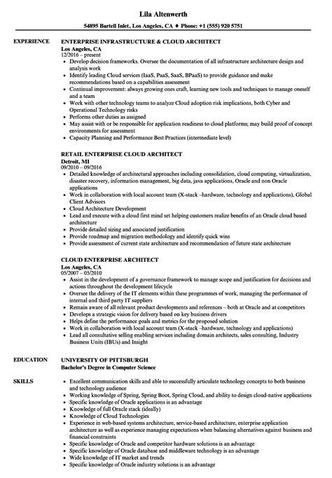 Sle Solution Architect Resume by Cloud Architect Resume Eezeecommerce