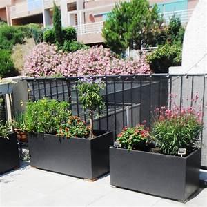 Jardiniere Chez Jardiland : jardini re rectangulaire en fibre de terre ~ Premium-room.com Idées de Décoration