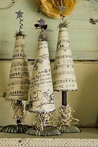 Weihnachtsdekoration Selber Basteln : old but gold recycle of sheet music xmas deko ~ Articles-book.com Haus und Dekorationen