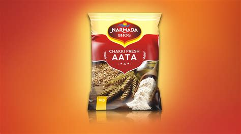Narmada Wheat Flour Design Packaging Bag 5 Kg On