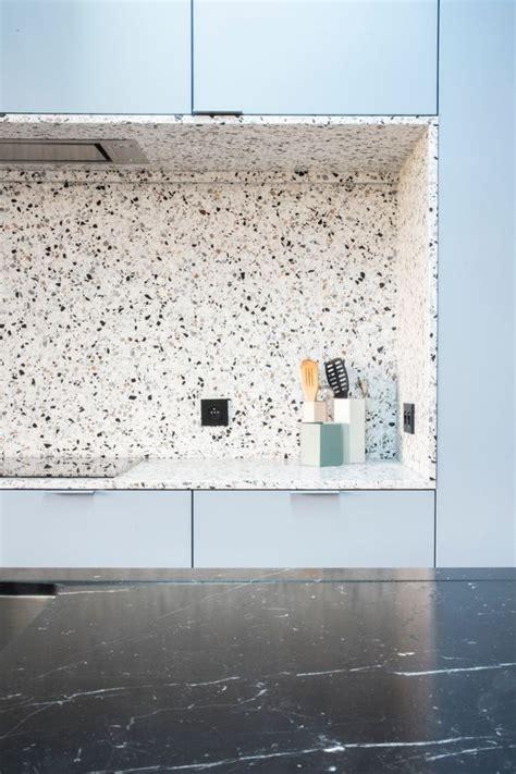 white tile kitchen backsplash trend 36 terrazzo design and decor ideas digsdigs