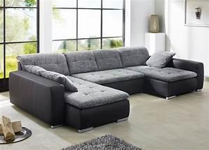 Sofa Hohe Rückenlehne : sofa couch ferun 365x200 185cm webstoff anthrazit kunstleder schwarz kaufen bei vbbv gmbh ~ Markanthonyermac.com Haus und Dekorationen