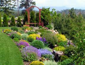 landscape ideas for steep backyard hill the garden
