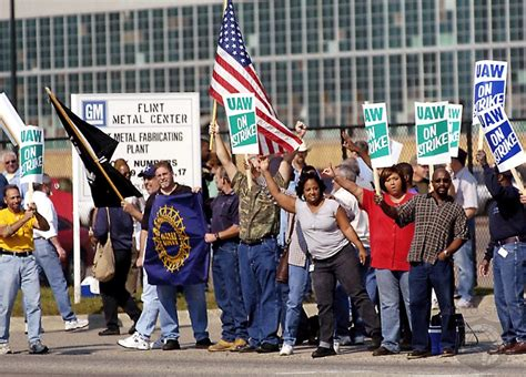 gm workers overwhelmingly authorize strikes  bargaining