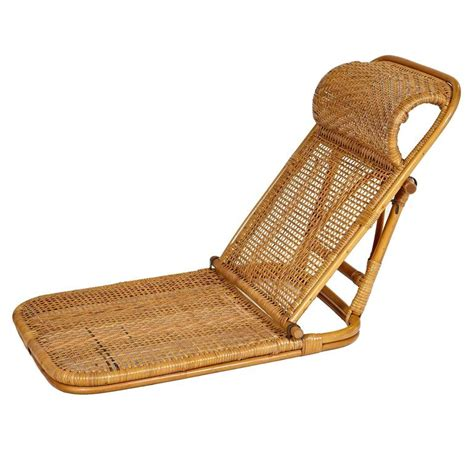 rattan and wicker folding chairs pair at 1stdibs