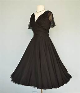 Vintage 1960s Cocktail Dress...Sophisticated Midnight by ...