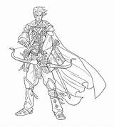 Bard Elf Drawing Illustrations Character Nelson Jim Bards sketch template