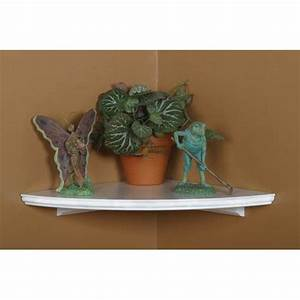 White Corner Shelf, 12 Inch Radius Woodland Products Wall