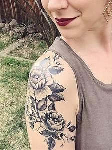 sholder tattoos idea   Ink & Inspiration   Tattoos, Flower ...