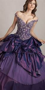 purple wedding dresses With wedding dress with purple lace