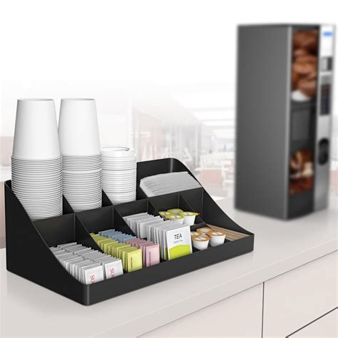 Comparison shop for coffee station organizer home in home. Coffee Station Condiment Shelf Bar Organizer for Office Home Breakroom Table Set