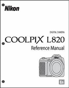 Nikon Coolpix L820 Digital Camera User Guide Instruction