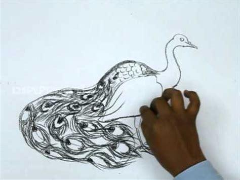 draw  peacock youtube
