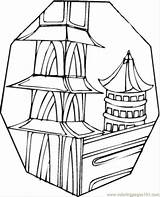 Pagoda Coloring Pages Drawing Buildings Japanese Template Coloringpages101 Sketch Getdrawings sketch template