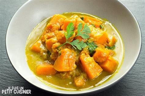 cuisiner au lait de coco recette de curry de courge au lait de coco