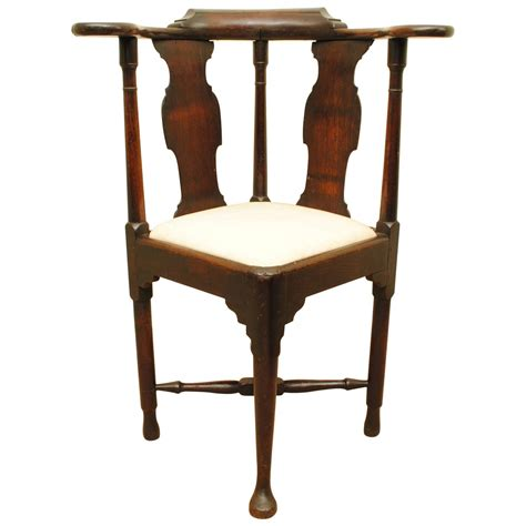 mid 18th century mahogany corner chair for sale at 1stdibs